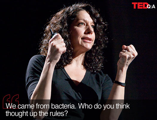 Bonnie Bassler: We came from bacteria. Who do you think thought up the rules?
