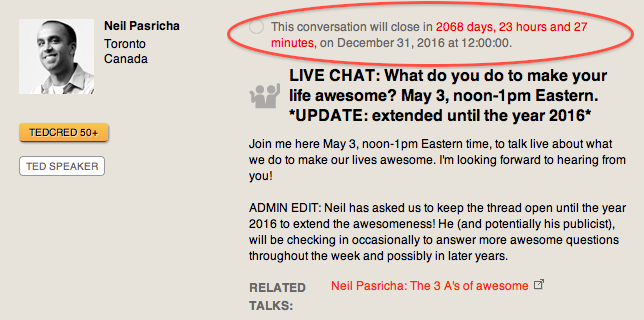 Neil Pasricha screenshot