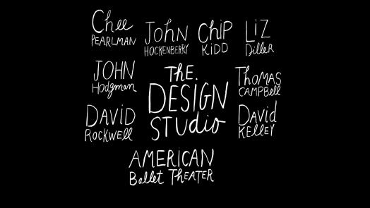 Design Studio Title Card. By Maira Kalman