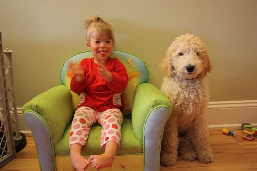 Maya Nieder with dog Parker