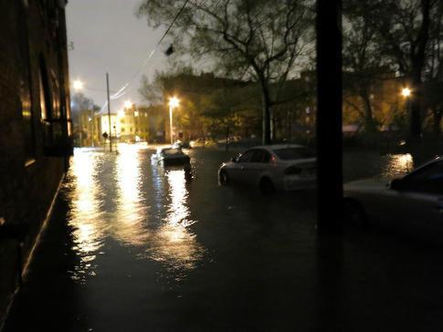 Red Hook under water
