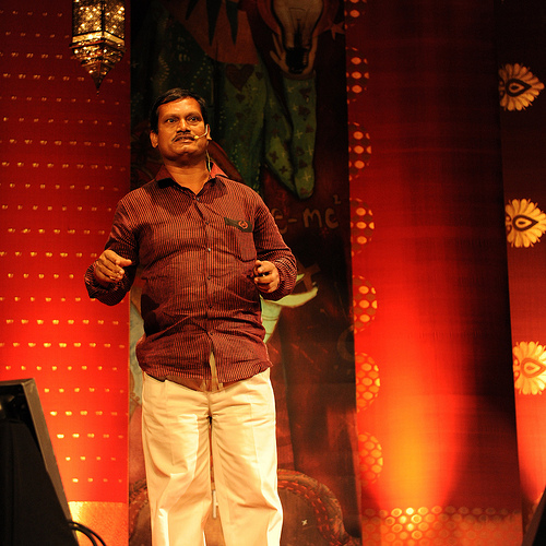 Arunachalam Muruganantham at TED@Bangalore, part of the TED2013 Talent Search. Learn more at http://talentsearch.ted.com. Photo courtesy TED@Bangalore.