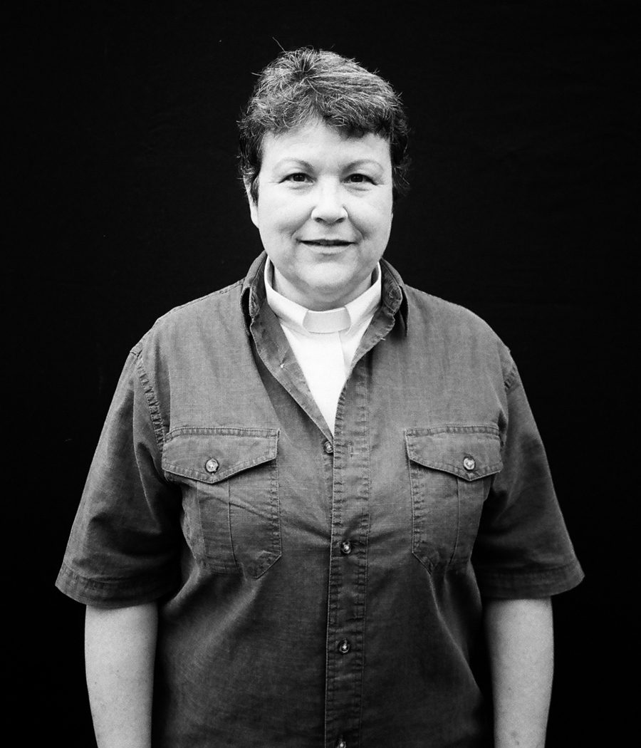 Reverend Jill - Knoxville, Tennessee. Reverend Jill came to the Knoxville shoot with her long-time partner. They pulled me aside and told me how important it was that people know you can have a strong relationship with God, and still be gay. I thought that took tremendous courage, not only to be openly gay in a state like Tennessee, but to take on the religious battle as well. I had a lot of respect for them.