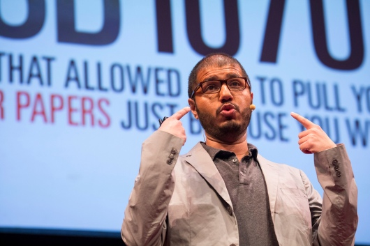 Safwat Saleem puts out a global call to the bemused, disappointed and outraged. Photo: Ryan Lash