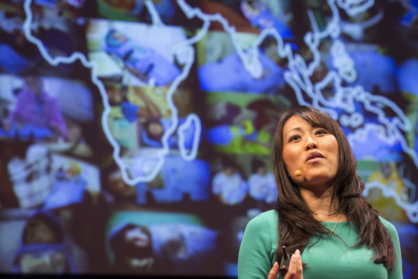 Jane Chen gives an update on her mission to make affordable infant incubators, during TED Fellows session 1 of TED2013.