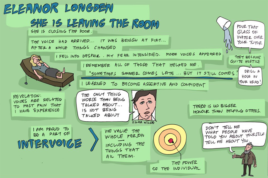 Eleanor Longden gave an incredible talk in Session 10, detailing how she came to terms with the voices in her head.
