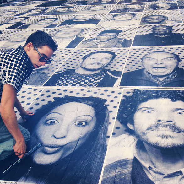 A closer look at a section of portraits. Image: Anna Verghese
