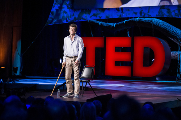 Joshua Prager uses his journalistic eye to tell his own story at TED2013. Photo: James Duncan Davidson
