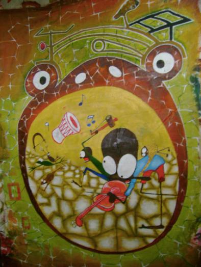 "Painting: ""Rock 'n' roll"""