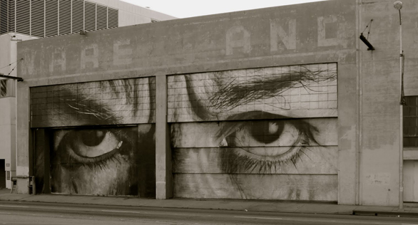 Another view of a pasted building in Los Angeles.