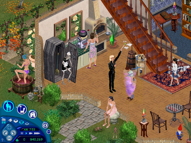 6. The Sims. So, so, so deep! I can hardly think of a more interesting and ambitious construct (except perhaps Spore, but it did not work out as well) than a game about building a family, and then a community. It blows my mind.