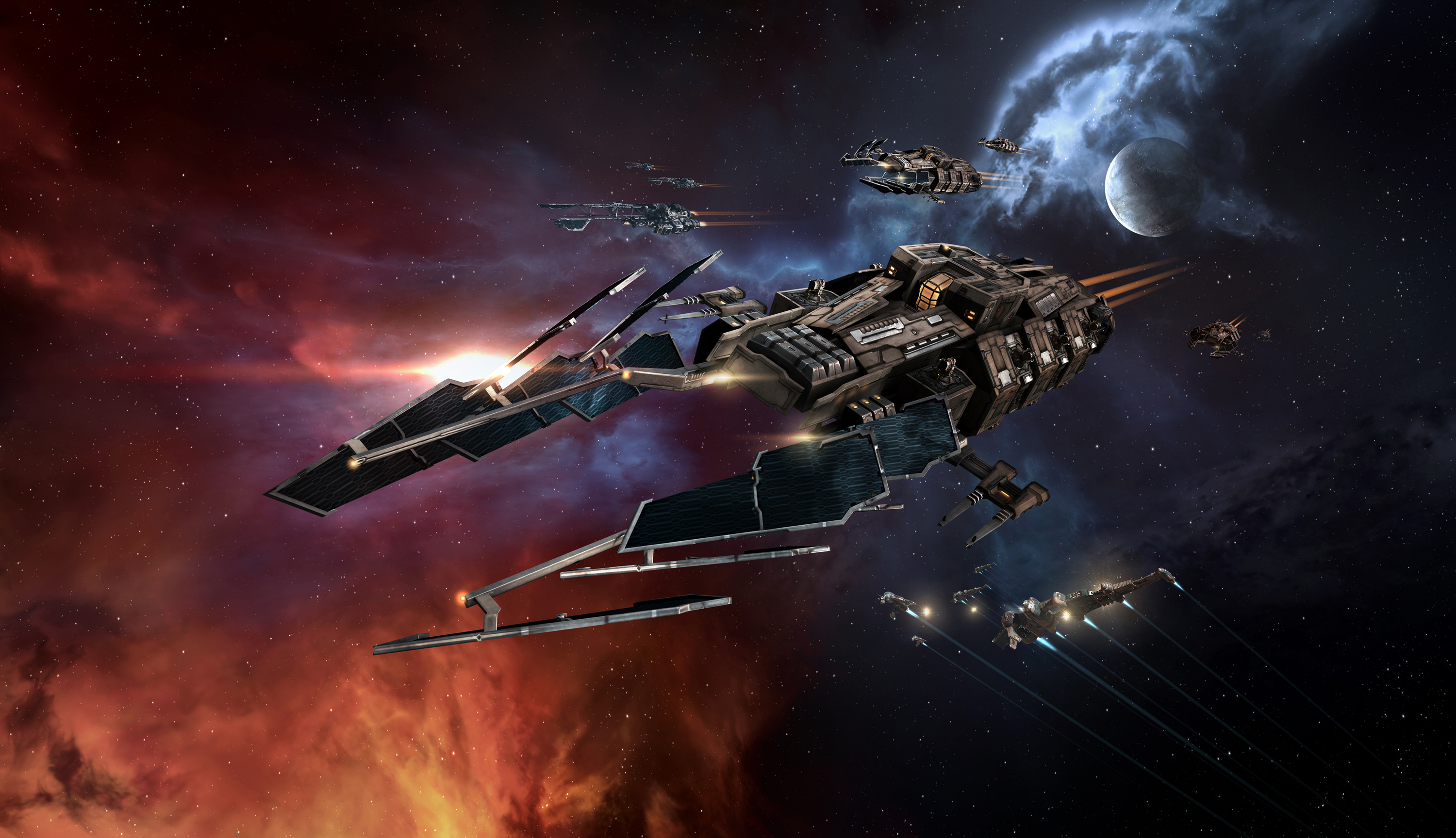 9. EVE Online. Superbly designed, in continuous evolution and as compelling as a great sci-fi saga, EVE is a great example of collective strategy. It also sports a great and generous community that helped us work on the display in the galleries.