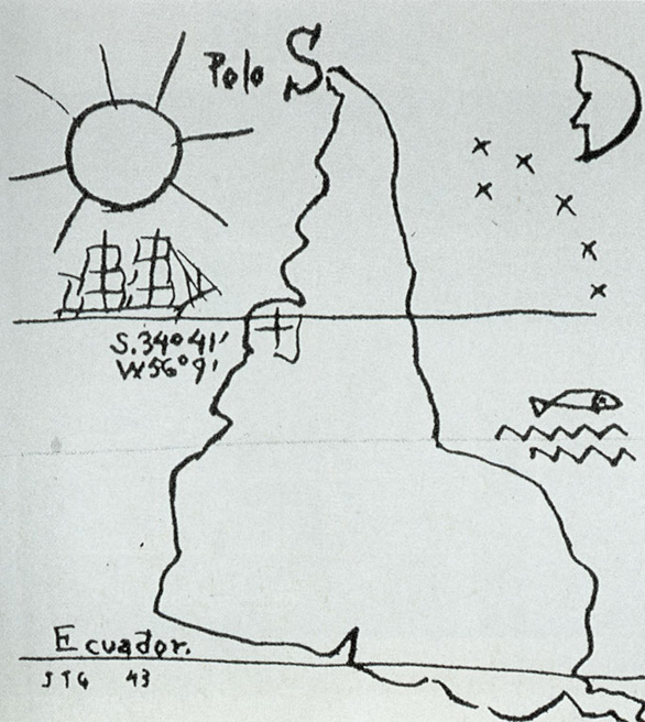 """The map that inspired the session, """"The World on its Head."""""""