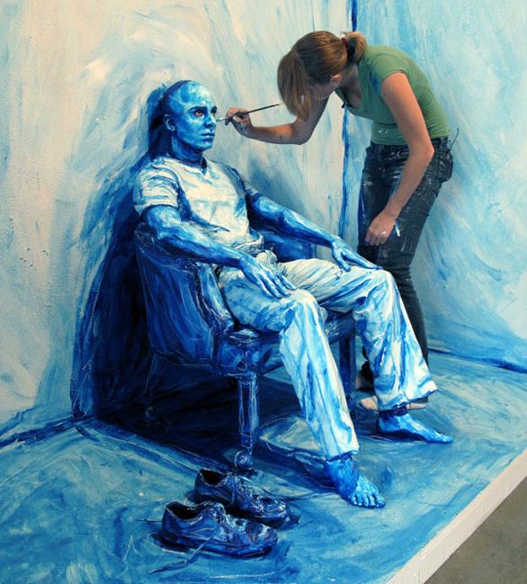 """Blueprint"" installation / Photo: Alexa Meade"