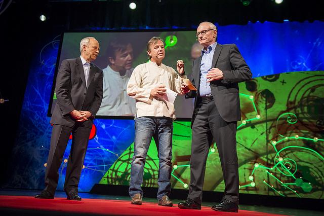 Michael Sandel, Chris Anderson and Michael Porter at 2013 in Edinburgh, Scotland. June 12-15, 2013. Photo: James Duncan Davidson