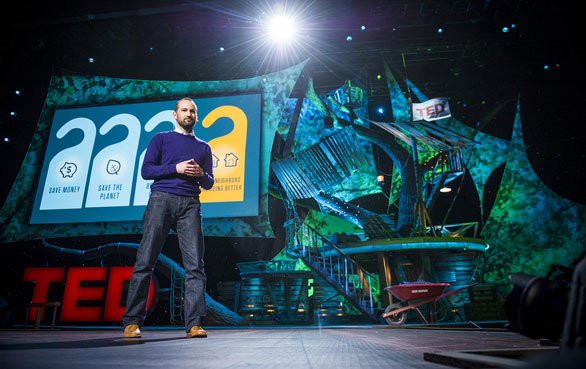 Alex Laskey shares the surprising thing that motivates people to save energy at TED2013. Photo: James Duncan Davidson