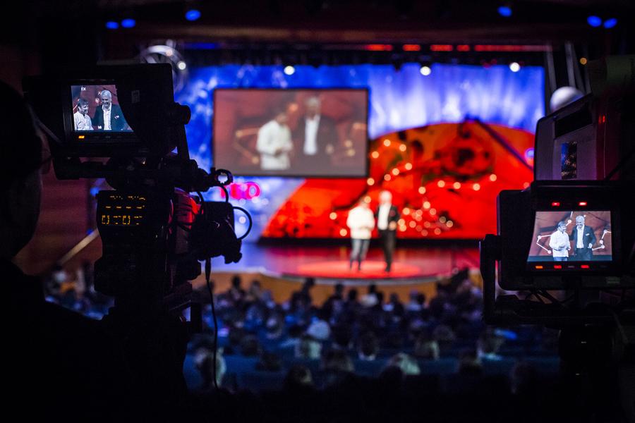 A peek behind the TEDGlobal camera. Photo: Ryan Lash