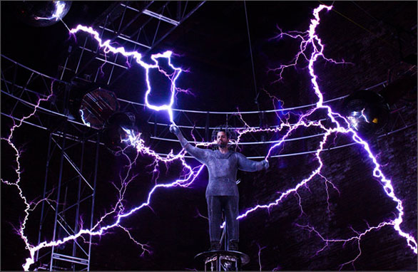 "David Blaine's latest stunt is called ""Electrified."" Photo: Courtesy of David Blaine"
