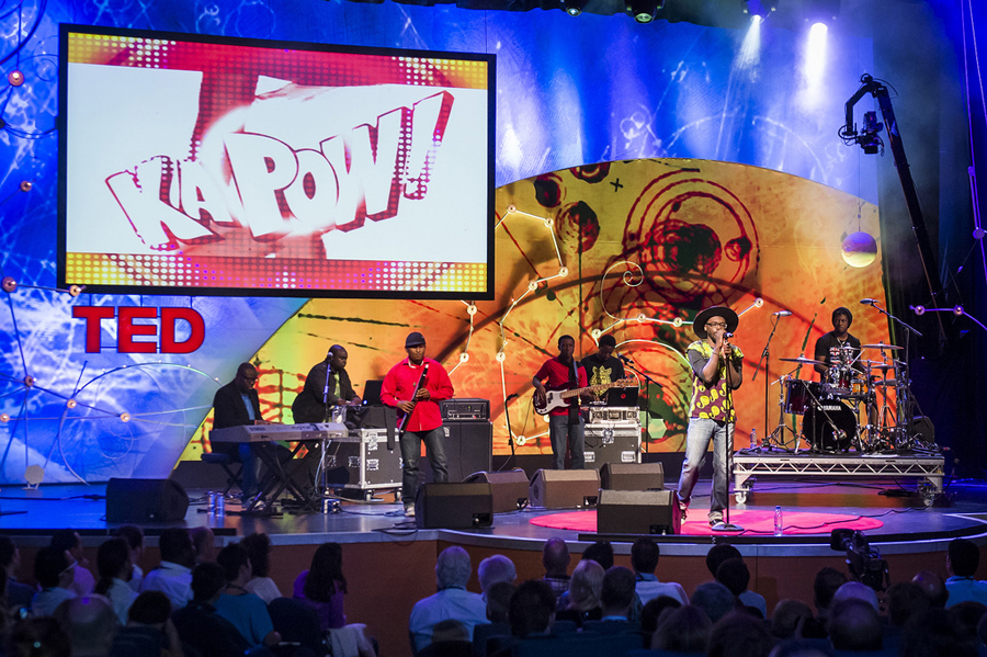 Just a Band, who created what many call Africa's first viral video, rock TEDGlobal. Photo: James Duncan Davidson