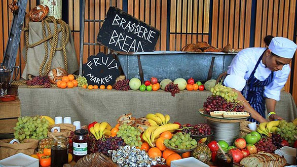 This glorious spread of food at TEDxSydney was crowdsourced from local growers. Photo: courtesy of TEDxSydney