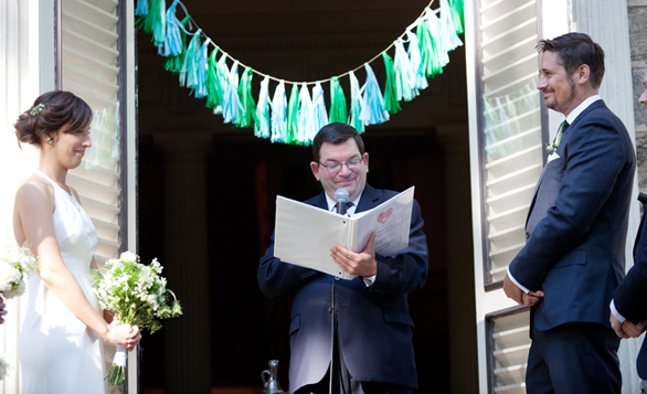 Sex educator Al Vernacchio spends his weekends officiating weddings. Photo: courtesy of Vernacchio
