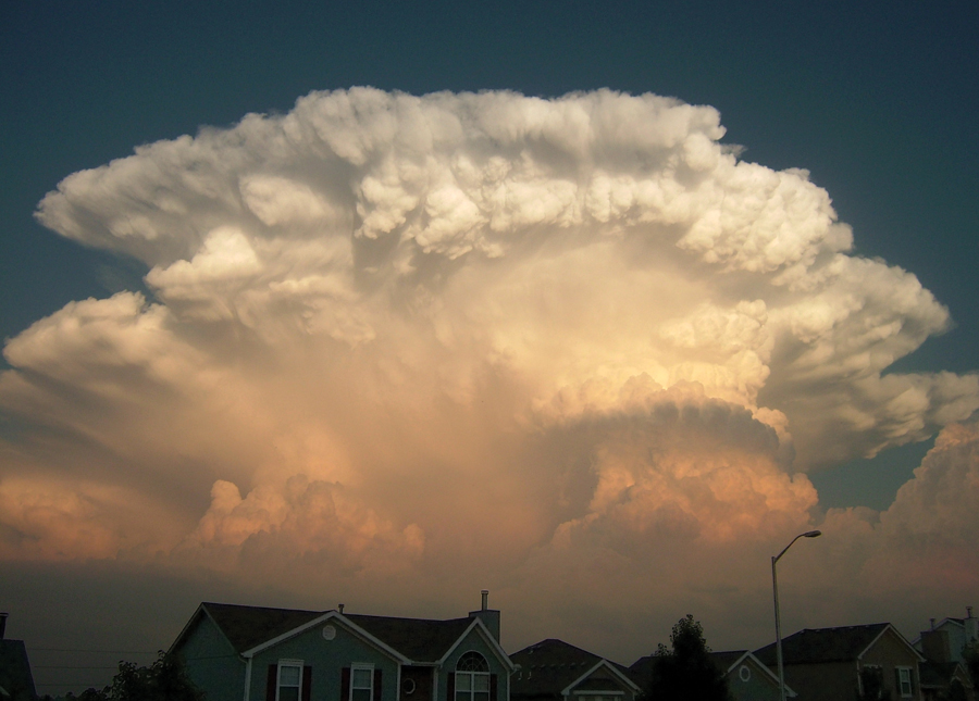 Clouds that look like an explosion, spotted by Mick Ohrberg in Kansas City, Missouri.