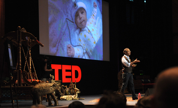 Pawan Sinha explains how the brain learns to see at TEDIndia 2009. Now, he's given the backstory to his area of research. Photo: James Duncan Davidson