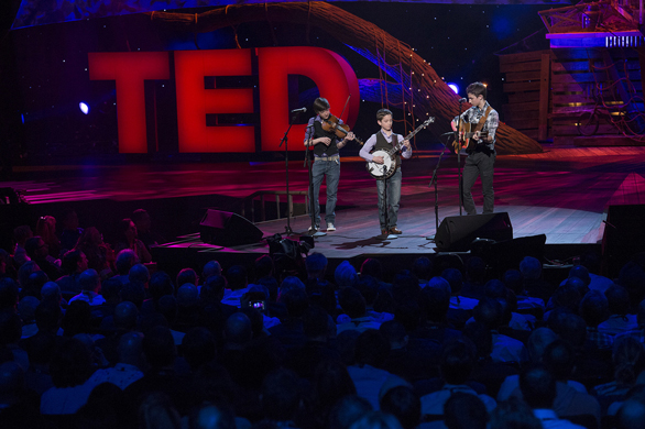 The Sleepy Man Banjo Boys captivate the audience at TED2013. Photo: James Duncan Davidson