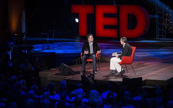 Chris Anderson interviews Elon Musk at TED2013. Photo: James Duncan Davidson