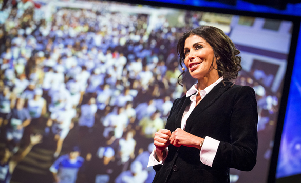 May El-Khalil, the founder of the Beirut Marathon, speaks at TED2013 of the power of the road race. Photo: James Duncan Davidson