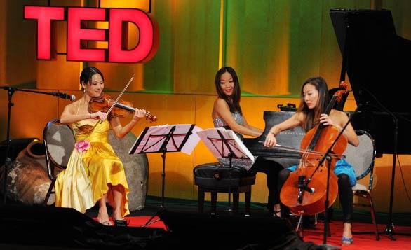 The Ahn Trio plays during TEDWomen 2010. Photo: James Duncan Davidson