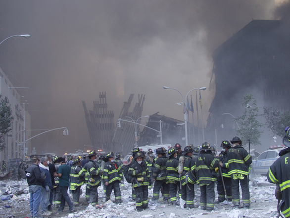 Firefighters at Ground Zero. Submitted by Kevin Elms.
