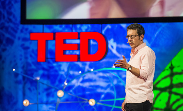 George Monbiot gets in touch with his rewilding side at TEDGlobal 2013. Photo: James Duncan Davidson