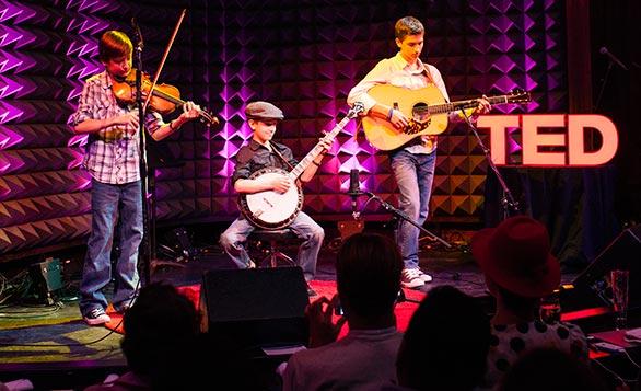 Sleepy Man Banjo Boys rocked the house at TED@NewYork... and later at TED2013. Photo: Ryan Lash.