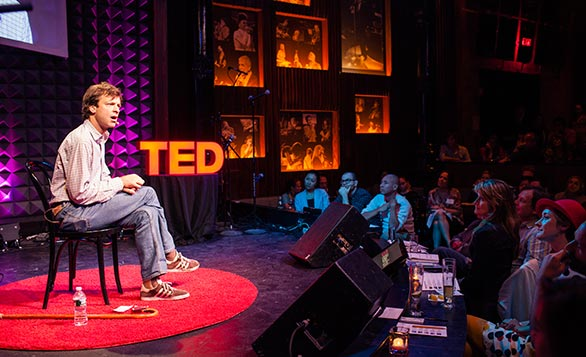 Joshua Prager speaking at TED@NewYork in 2012. Prager later spoke on the main stage at TED2013. Photo: Ryan Lash.