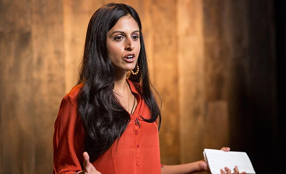 Parul Sehgal speaks on the nature of jealousy in the TED office. Photo: Ryan Lash