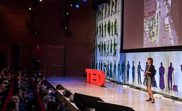 Janette Sadik-Khan speaks at TEDCity2.0. Photo: Ryan Lash