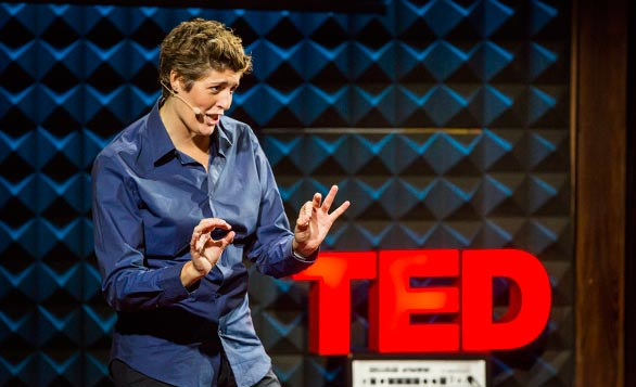 Sally Kohn, otherwise known as Fox News' liberal and lesbian pundit, shares an idea for how to progress across political divides. Photo: Ryan Lash