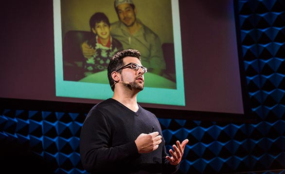 Zak Ebrahim brought the event to an emotional highpoint, sharing how he escaped the thinking that embroiled his father, a terrorist. Photo: Ryan Lash