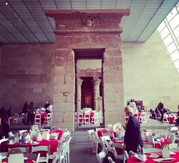 A view of lunch at TEDxMet, inside the Temple of Dendur. Photo: Nadia Goodman
