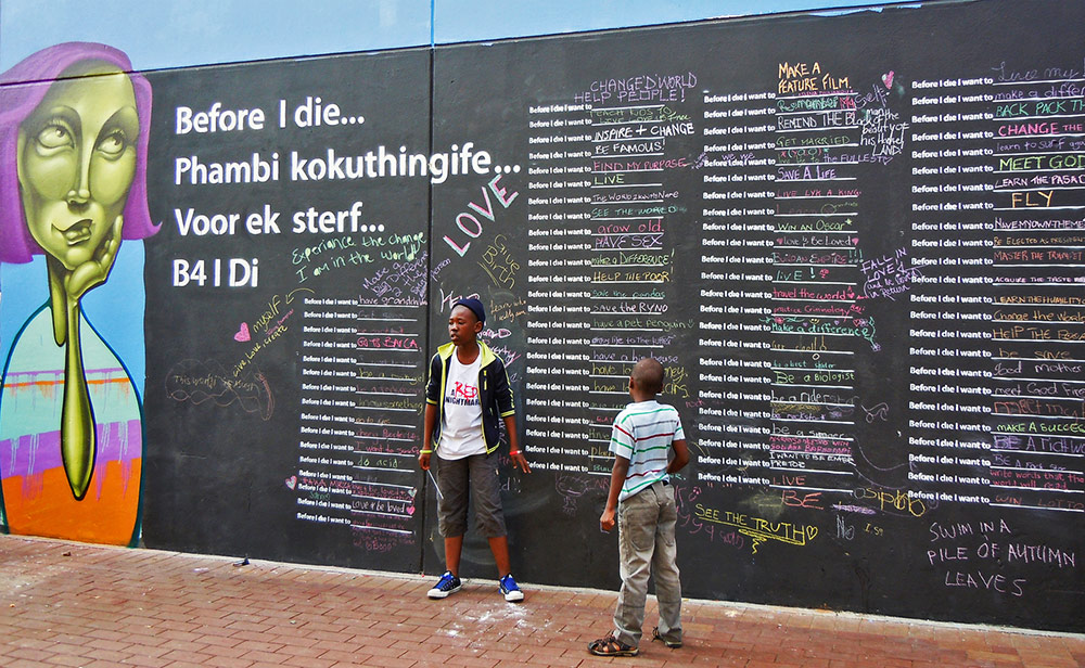 Before I die I want to have my own theme song (Johannesburg, South Africa). Me too. Music plays a big part in my life and helps set my aspirational mood. No theme song yet, but I've definitely compiled a soundtrack.