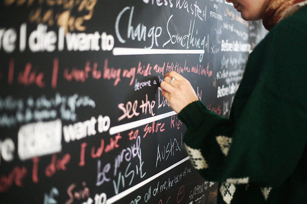 "Before I die I want to stop being afraid (Jerusalem, Israel). The Jungian analyst James Hollis once said, ""In the end, we are only tiny frightened animals, doing our best to survive amid other tiny frightened animals."" That sounds a little grim but it always consoles me."