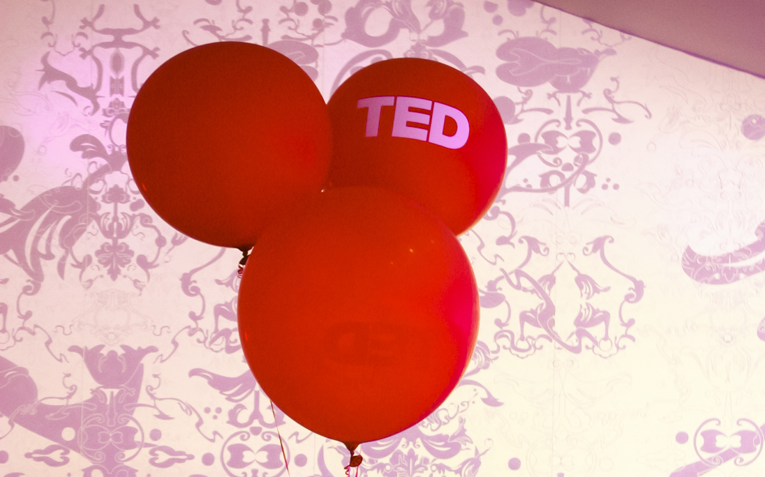 Appearing through the Civic Theater in New Orleans—big red TED balloons. Photo: Sarah Grammar