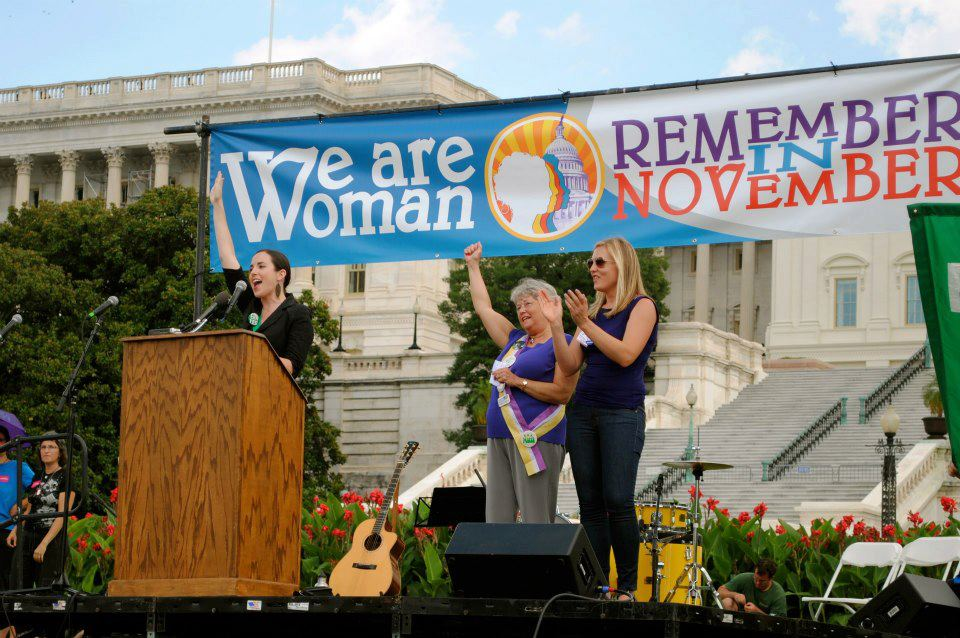 Speaking at the We are Woman march at the US Capitol in Washington, DC November for the Equal Rights Amendment (ERA).