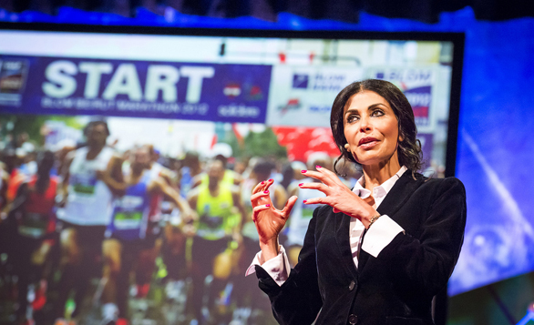 May El-Khalil spoke on the power of marathons at TEDGlobal 2013. Her talk inspired me to get back to my life as a marathoner. Photo: James Duncan Davidson