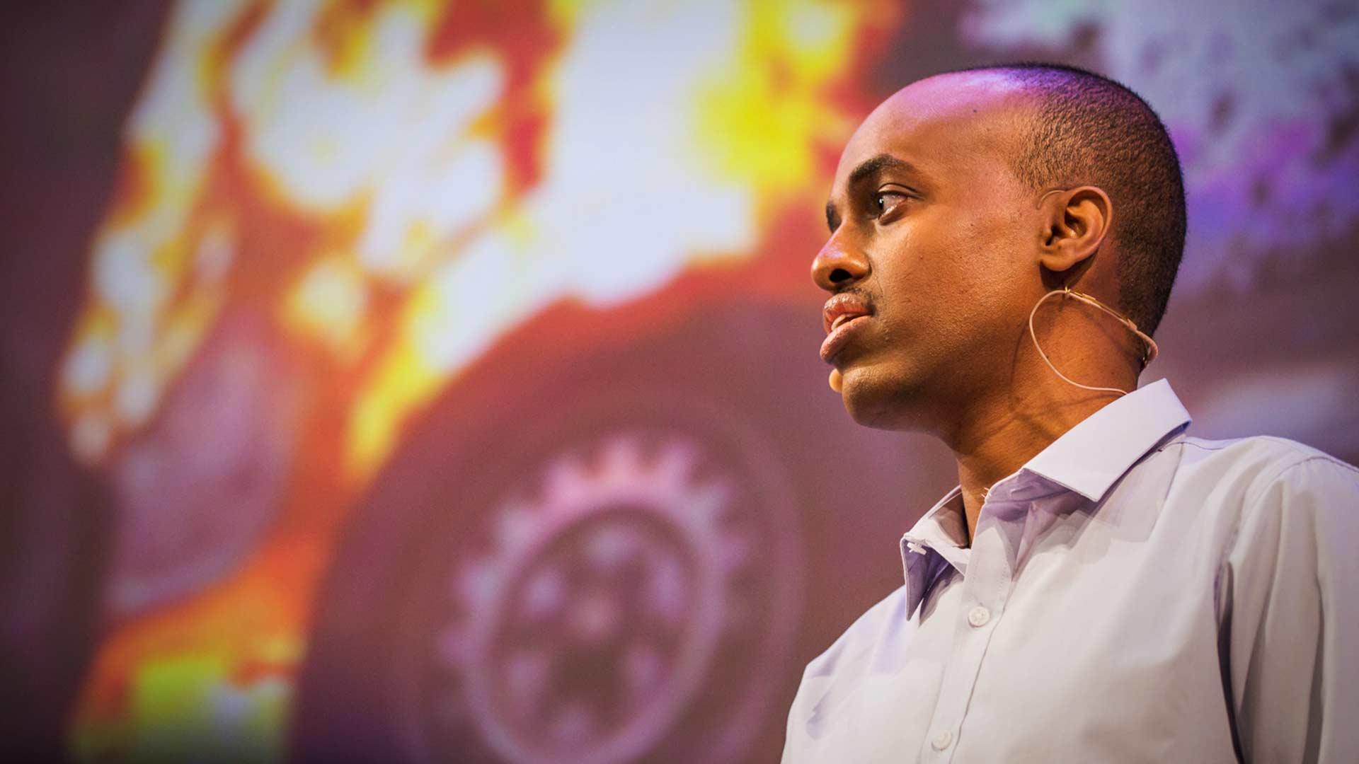 Peace strategist Mohamed Ali speaks at TEDCity2.0, bringing us to the city of Mogadishu. Photo: Ryan Lash