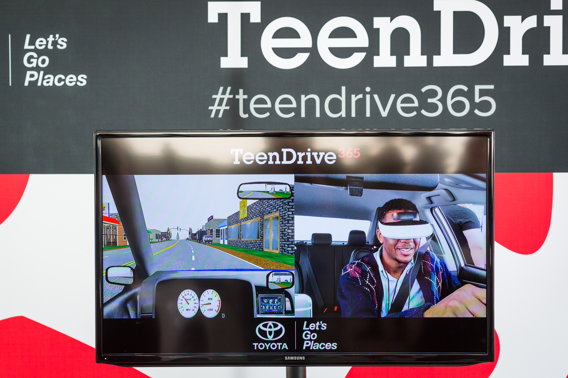 Toyota was on the scene of TEDYouth, with a distracted driving simulator that underscored just how much of a driver's attention is zapped by reaching for something in the backseat or sending a text message. Photo: Ryan Lash