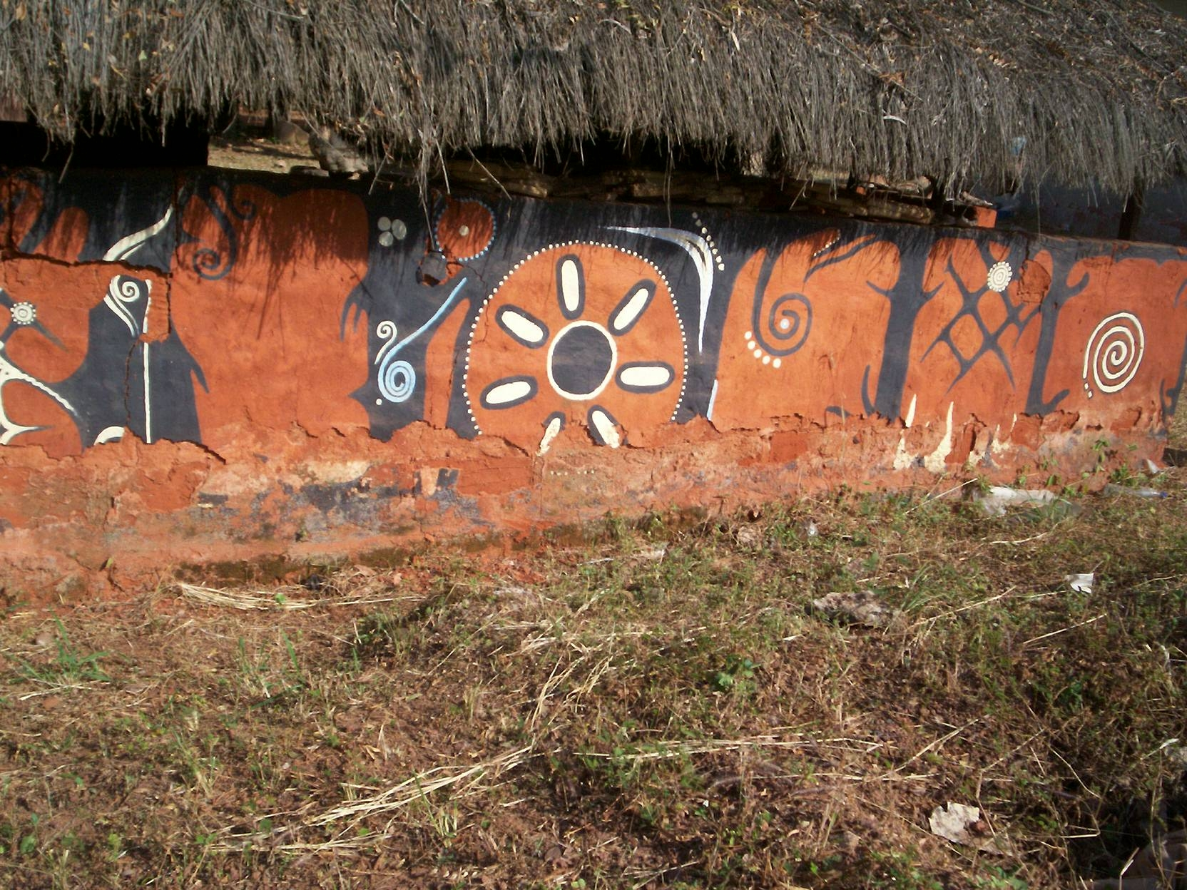 A typical ancient wall painting in parts of southeastern Nigeria, which could be portraying astronomical information. Photo: Johnson Urama