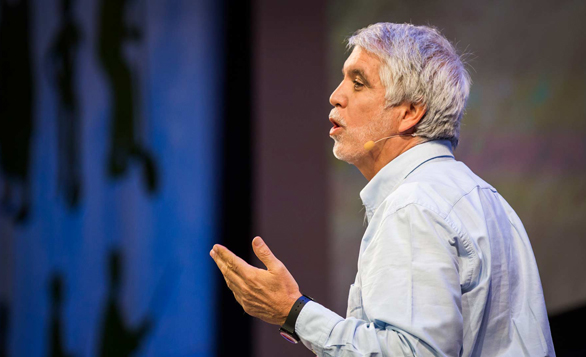 Enrique Penalosa shares why he created so many protected bike lanes in Bogota, Colombia. Photo: Ryan Lash