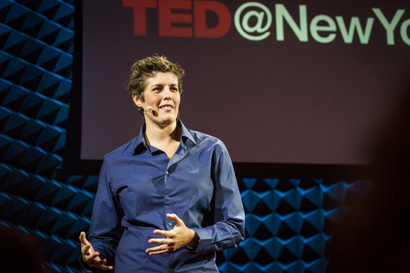 When Sally Kohn spoke at TED@NYC, she was Fox News' liberal lesbian pundit. Now, she's a free agent. Photo: Ryan Lash